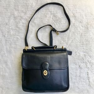 Vintage Coach Legacy Black Willis Station Bag USA